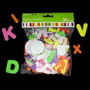 EVA Alphabet, Self-adhesive, 30g