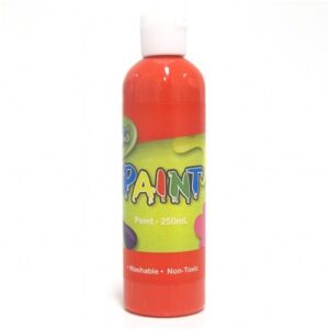 Red Tempera Paint, Washable, 250ml