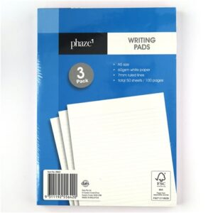 Pad Paper, Writing, 3 pack, A5