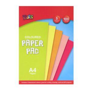 Pad Paper, Fluorescent Colours, A4