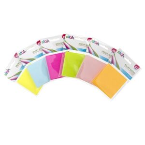 Sticky Note, 100 sheets, 76 x 76mm, 6 Colours