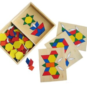 Build a Picture with Shapes, 4 boards, 50 pieces