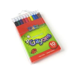 Propelling Crayon in PVC Wallet, 10 pack