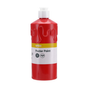 Red Poster Paint, 400ml
