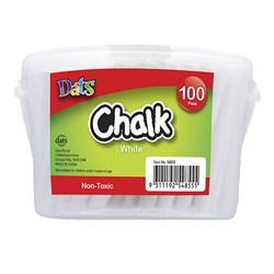 White Chalk in bucket, 100 pack