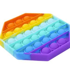 Push Bubble Pop Fidgets (Rainbow Octagon)
