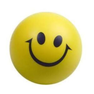 Smiley squishy 'de-stress' ball